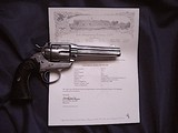 Colt Bisley Model SAA revolver, .45 Colt with Colt Archives letter to Territory of Arizona in 1906 - 9 of 10