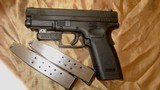 XD 45 ACP BLACK COMPACT with Laser Sight and two Original Factory 13 Round Magazines