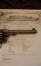 navy colt model 1895 stamped usn, new navy .38lc double action revolver with colt archives letter