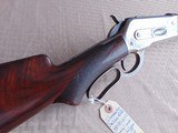 WINCHESTER 1886 DELUXE SPECIAL ORDER 45-90 OCTAGON RIFLE SET TRIGGER FACTORY LETTER - 5 of 23