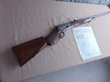 SUPERB - WINCHESTER 1886 DELUXE SPECIAL ORDER 1/2 OCTAGON RIFLE 45-90 W/ FACTORY LETTER - 2 of 26