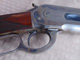 SUPERB - WINCHESTER 1886 DELUXE SPECIAL ORDER 1/2 OCTAGON RIFLE 45-90 W/ FACTORY LETTER - 6 of 26