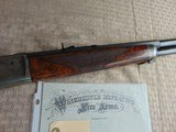 SUPERB - WINCHESTER 1886 DELUXE SPECIAL ORDER 1/2 OCTAGON RIFLE 45-90 W/ FACTORY LETTER - 5 of 26