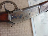 SUPERB - WINCHESTER 1886 DELUXE SPECIAL ORDER 1/2 OCTAGON RIFLE 45-90 W/ FACTORY LETTER - 13 of 26