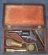 Cased Mass. Arms, Adams Patent Pocket Revolver