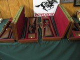 6584Winchester Model 23 Classics 4 GUN SET ALL SAME SERIAL NUMBER.#006. GOLD RAISED RELIEF pheasants and quail on receiver bottom,vent rib,ejectors,