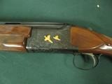 6594 Winchester 101 PRESENTATION SKEET, 12 gauge 27 inch barrels, skeet/skeet, 4 GOLD RAISED RELIEF PHEASANTS ENGRAVED ON DARK BLUE RECEIvER WITH ROSE - 3 of 15