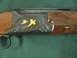 6594 Winchester 101 PRESENTATION SKEET, 12 gauge 27 inch barrels, skeet/skeet, 4 GOLD RAISED RELIEF PHEASANTS ENGRAVED ON DARK BLUE RECEIvER WITH ROSE - 7 of 15