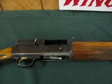 6581 Browning Belgium A 5 20 gauge 25 inch barrel, ic fixed choke,VENT RIB, square knob, Browning butt plate, gold trigger, 97% condition,showing a li - 9 of 11