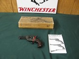 6604 Uberti Cattleman thunderer 45 colt 3.5 barrel,case colored frame, walnut grips,BIRDSEYE FRAME EARLY MODEL,NEW IN BOX WITH PAPERS, UNFIRE