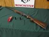 6645 Winchester 101 AMERICAN FLYER 12 gauge 32 inch barrels, top barrel is fixed extra full, bottom barrel is ic, mod, full, gold wire inlay outlines