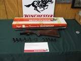 6694 Winchester model 23 CUSTOM--MODEL 21 LOOK ALIKE-- with knuckle on receiver--only 800 mfg this is #432.correct WINCHESTER BOX serialized to gun. a