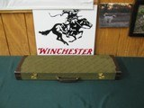 6739 Winchester 101 or model 23 case, leather trim, keys, compartment for chokes,etc, 90% condition, will take 28 inch barrels. - 1 of 8