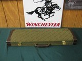 6739 Winchester 101 or model 23 case, leather trim, keys, compartment for chokes,etc, 90% condition, will take 28 inch barrels. - 8 of 8