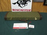 6763 Winchester 101 NATIONAL WILD TURKEY FOUNDATION CASE, will take 28.5 inc barrels, keys, HANG TAG CORRECT FOR NWTF, brochure, leather trim 98% cond