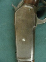 6797 Winchester 1886 45-70 26 inch barrel,blade front site, semi buckhorn elevator rear site, lever action, metal butt plate,all original, bore is ave - 6 of 18