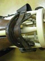 6902 McClellan Calvary Saddle WORLD WAR I,excellent condition, 12 inch model,leather top and under side in excellent condition, so are the stirrups an - 10 of 10