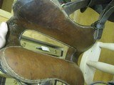 6902 McClellan Calvary Saddle WORLD WAR I,excellent condition, 12 inch model,leather top and under side in excellent condition, so are the stirrups an - 7 of 10