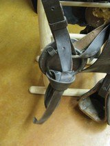6902 McClellan Calvary Saddle WORLD WAR I,excellent condition, 12 inch model,leather top and under side in excellent condition, so are the stirrups an - 6 of 10