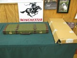 6959 Winchester 101 or Model 23 case, NEVER HAD A GUN IN IT,comes with original shipping box from Italy,with keys, will take 28 1/2 inch long barrels, - 1 of 9
