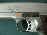 6955 Ruger S R 1911 45 ACP,NEW IN BOX, stainless steel, 1 mag,UNFIRED,all papers, correct serialized box, wood grips, 3 dot white sites,from private c - 5 of 10