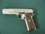 6955 Ruger S R 1911 45 ACP,NEW IN BOX, stainless steel, 1 mag,UNFIRED,all papers, correct serialized box, wood grips, 3 dot white sites,from private c - 3 of 10