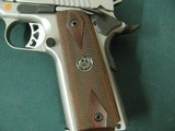 6955 Ruger S R 1911 45 ACP,NEW IN BOX, stainless steel, 1 mag,UNFIRED,all papers, correct serialized box, wood grips, 3 dot white sites,from private c - 4 of 10