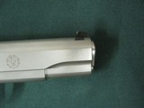 6955 Ruger S R 1911 45 ACP,NEW IN BOX, stainless steel, 1 mag,UNFIRED,all papers, correct serialized box, wood grips, 3 dot white sites,from private c - 9 of 10