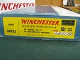 7064 Winchester 101 field 20gauge 26 inch barrels ic.mod,99% condition,AS NEW IN BOX, ALL ORIGINAL, 2 brass beads, ejectors, pistol grip with cap, Win
