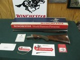 7068 Winchester 23 Pigeon XTR 20ga 28blsmod/full, vent rib,ejectors, coin silver rose and scroll engraved coin silver receiver, 2 3/4&3inch chambers - 1 of 13