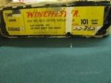 : 7086 Winchester 101 field 410 gauge 28 inch barrels skeet/skeet, 2 brass beads 1969mfg.box is serialized to shotgun, all papers, hang tag, pistol gr - 2 of 14