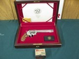 7107 Smith Wesson629-3 44 MAGNUM 7 1/2 barrel , Cherry wood presentation case,stainless steel, red ramp front site,Goncolo medalion grips,Highly Pol - 3 of 14