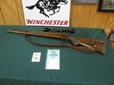 7137 Sako L61R Finnbear Mannlicher 270 caliber, 20 inch barrel, tasco 3x9, all original with instruction booklet and hang tag, 93-95%condition, slin