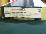 7159 Winchester 101 Pigeon 12 gauge 26 barrels ic/mod ejectors vent rib pistol grip butt pad 14.5 lop correct serialized box to gun, all papers, AAA++ - 2 of 13