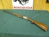7165Winchester 101 Pigeon 20 gauge 27 inch barrels, skeet, coin silver rose scroll engraved receiver, ejectors, pistol grip, Winchester butt plate 9