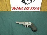 7262 Smith Wesson 66-2 Combat Magnum, 357 Mag. 4 inch barrel orange front site, square notched rear site, Pachmayr black checkerd grips,slight drap li