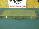 7286 Winchester case 101 23 or 21 case, any gauge, will take 30 1/2 inch barrels,,,,NEW OLD STOCK, LEATHER TRIMMED--all original quite making them Dec