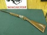 7362 Winchester 23 GOLDEN QUAIL 28 gauge 26 barrels ic/mod, 99% condition, all original, solid rib, ejectors, STRAIGHT GRIP, Winchester pad. dogs/quai