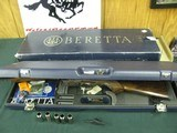 7377 Beretta 471 Silver Hawk 20 gauge 28 inch barrels, 5 chokes cly ic m im f wrench box, case,papers.AS NEW IN CASE, old english pad lop 14 1/4 satin
