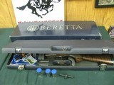 7376 Beretta 471 Silver Hawk 20 gauge 28 inch barrels, 5 chokes cly ic m im f wrench box, case,papers.AS NEW IN CASE, old english pad lop 14 1/4 satin