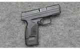 Springfield ~ XDs ~ 9 MM Luger