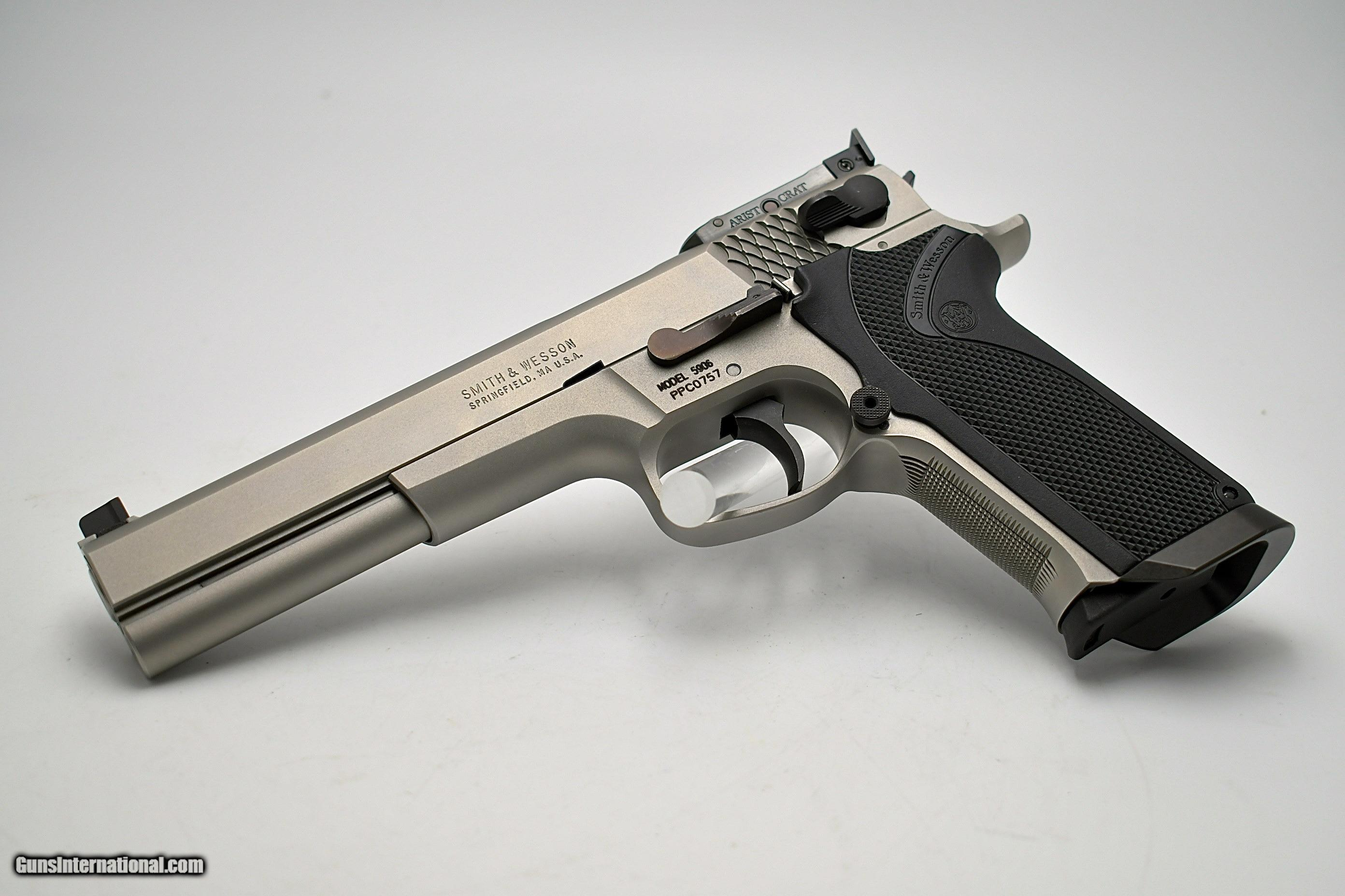 """RARE Smith & Wesson PERFORMANCE CENTER PPC 5906 6"""" COMPLETE WITH LABELED  SHIPPER AND TARGET ..."""
