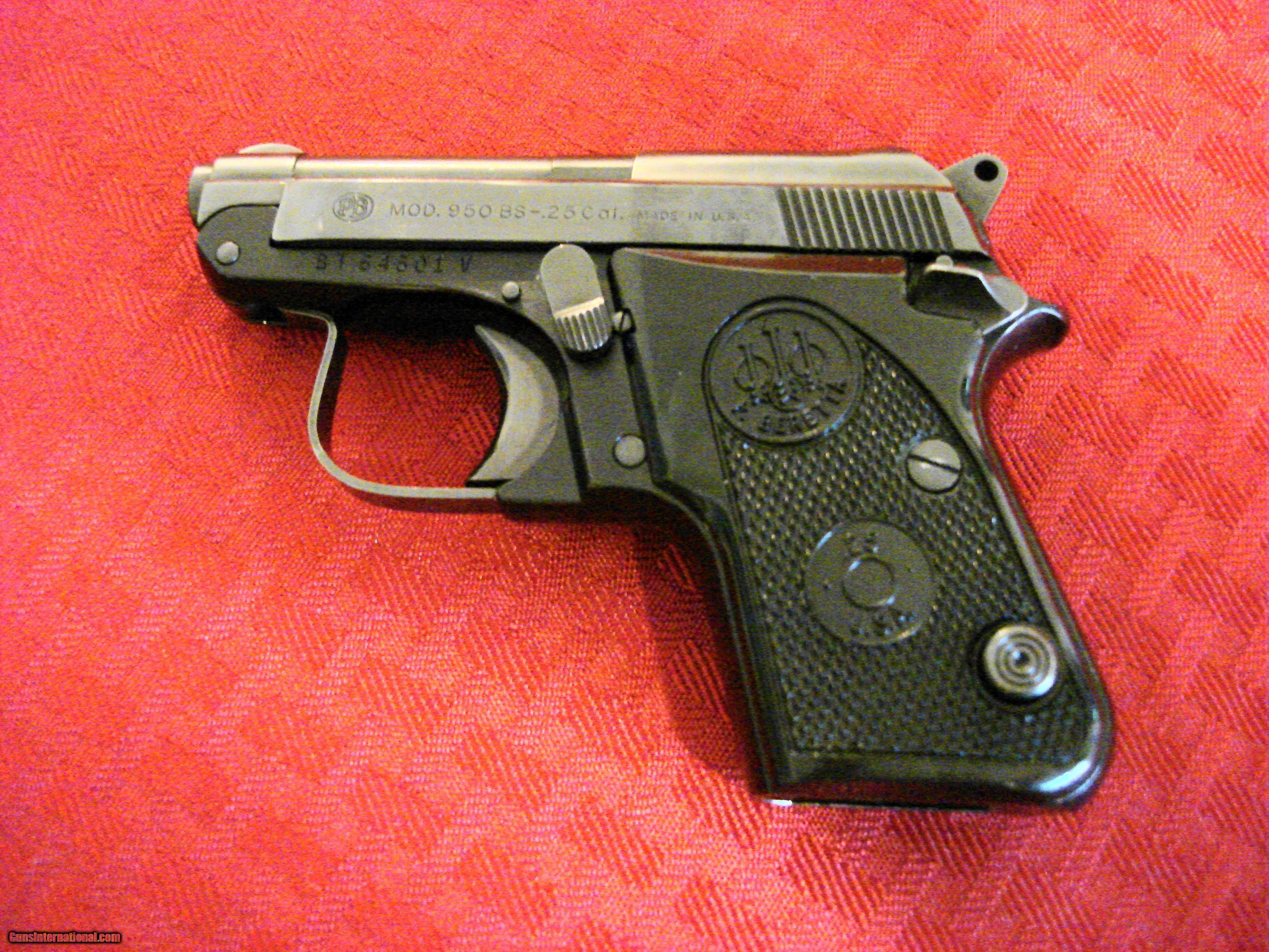 Beretta 950BS in  25 Cal  ACP,