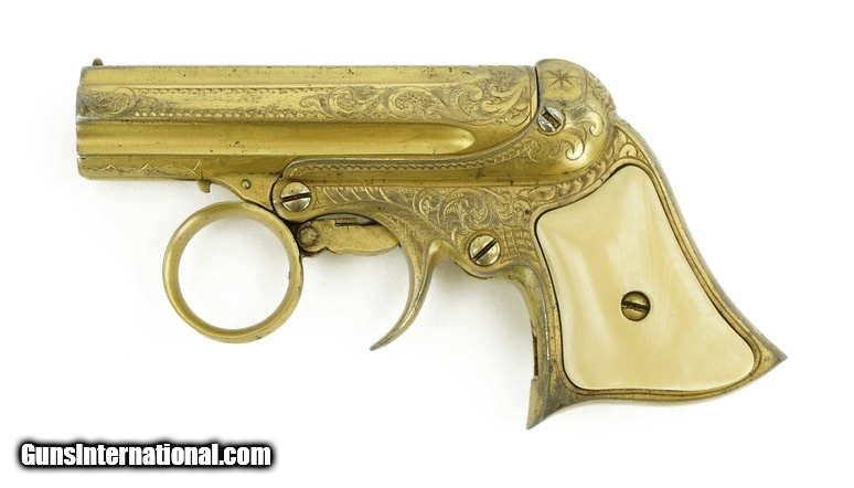 rare factory engraved gold plated remington elliott 22 caliber