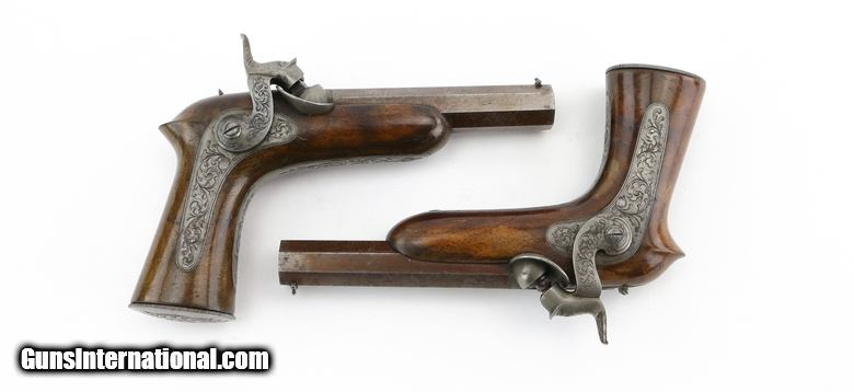elegant pair of percussion pistols ah2357 for sale. Black Bedroom Furniture Sets. Home Design Ideas