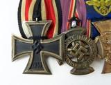 """""""German WWII Six Medal Bar which includes The"""" Luftschutz-Ehrenzeichen 1c Stuf"""" (MM958)"""" - 2 of 6"""