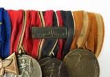 """""""German WWII Six Medal Bar which includes The"""" Luftschutz-Ehrenzeichen 1c Stuf"""" (MM958)"""" - 4 of 6"""