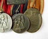 """""""German WWII Six Medal Bar which includes The"""" Luftschutz-Ehrenzeichen 1c Stuf"""" (MM958)"""" - 5 of 6"""