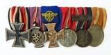 """""""German WWII Six Medal Bar which includes The"""" Luftschutz-Ehrenzeichen 1c Stuf"""" (MM958)"""" - 1 of 6"""