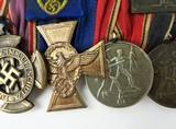 """""""German WWII Six Medal Bar which includes The"""" Luftschutz-Ehrenzeichen 1c Stuf"""" (MM958)"""" - 3 of 6"""